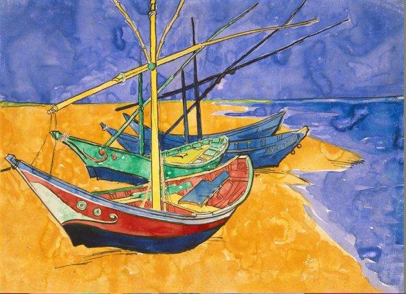 La Mer van Gogh Saintes-Maries